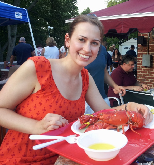 The lobster and I wore the exact same color; how embarrassing!