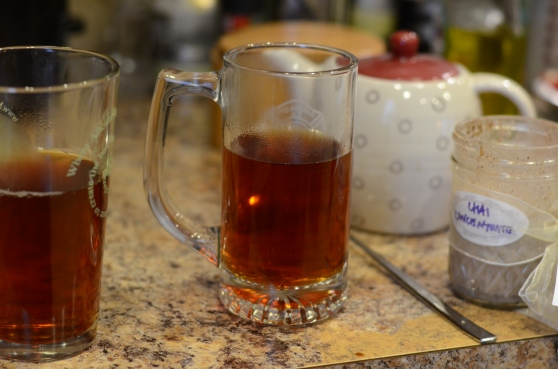 We have a ton of different types of drinking glasses, but darn, we don't have an authentic glass mug for hot toddies!