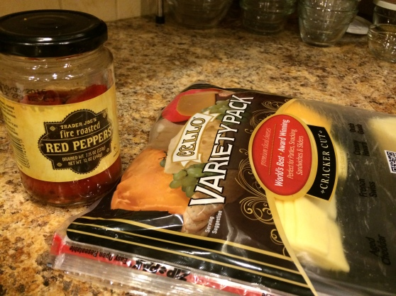 This sandwich was great for using what I had hanging around, including some of a Costco-sized sliced cheese assortment.