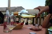 Enjoying a taste on our Chianti wine tour, in Tuscany.