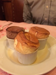 An impressive collection of soufflés for dessert.