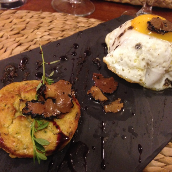 Truffles and a runny yolk made this a fantastic appetizer at a French-Italian restaurant in Florence.